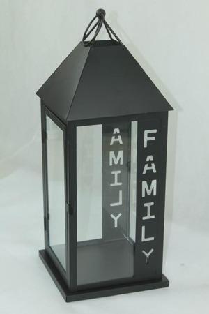 Lampion metalowy 48 x 19 x 19 cm