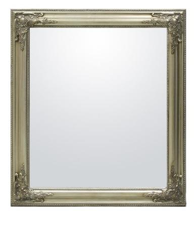 Lustro prostokątne 72x67cm srebrna rama 7cm
