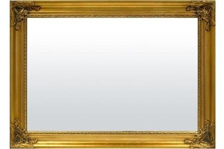 Lustro złota rama 74x104x4