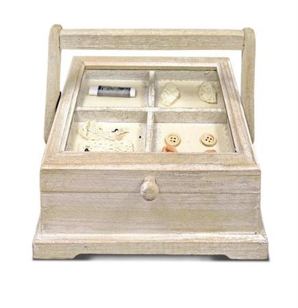 Niciarka, pudełko na przybory do szycia 19x23x18