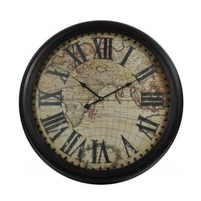 Zegar ścienny Mapa Świata 61,5x6,5 CM