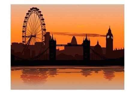 Fototapeta - Widok na London Eye