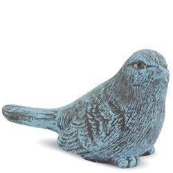 Cementowa Figurka Ptaszek, kolor: Morski, h:12,5cm
