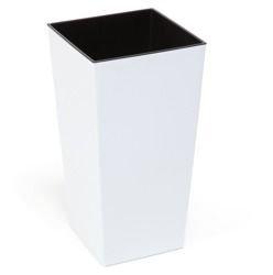 Doniczka Finezja z wkładem Połysk Biały 19x19 H 36