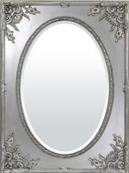 Elegancka Stylowa Rama Zdobna lustro srebro h:115