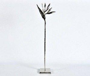 Etno Figurka Rajski ptak srebrny