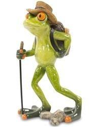 Figurka Żaba ozdoba ceramika wędrowiec
