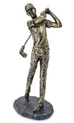 Figurka golfista miedziany dynamiczny