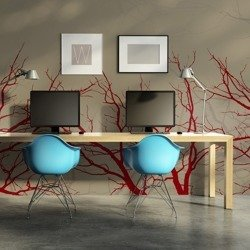 Fototapeta - Red-hot branches
