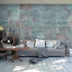 Fototapeta - Turkusowy beton