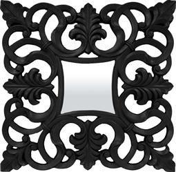 Kwadratowa Stylowa Rama Lustro czarny 98 x 99 cm