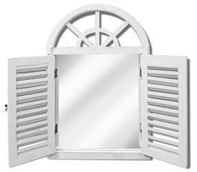 Lustro Białe z zamykaną/otwieraną okiennicą 60 cm