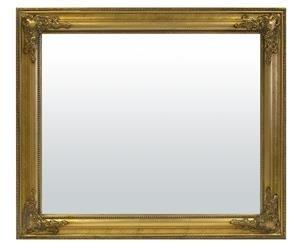 Lustro Złote Ozdobne, Drewniana Rama, 62x72x3 cm