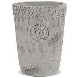 Mała Podłużna Osłonka Cementowa Szara Etno, h:19cm