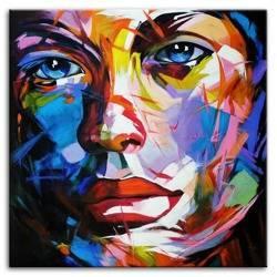 Obraz - Abstrakcje - olejny, ręcznie malowany 100x100cm