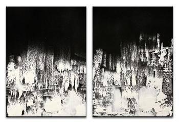Obraz - Abstrakcje - olejny, ręcznie malowany 50x70cm x2
