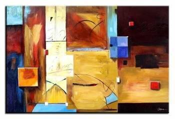 Obraz - Abstrakcje - olejny, ręcznie malowany 60x90cm