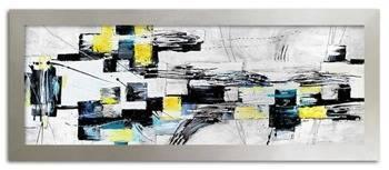 Obraz - Abstrakcje - olejny, ręcznie malowany 62x162 cm