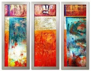 Obraz - Abstrakcje - olejny, ręcznie malowany 62x162x3