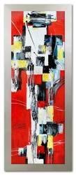 Obraz - Abstrakcje - olejny, ręcznie malowany 64x164cm