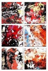 "Obraz ""Abstrakcje"" reprodukcja 30x30cm  x6"