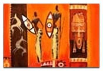 Obraz - Afryka - olejny, ręcznie malowany 60x90cm