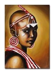 """Obraz """"Afryka"""" ręcznie malowany 50x70cm"""