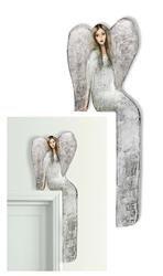 """Obraz """"Anioły"""" ręcznie malowany 23x69 cm"""