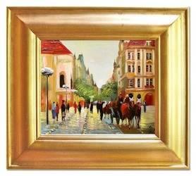 """Obraz """"Architektura"""" ręcznie malowany 43x48cm"""