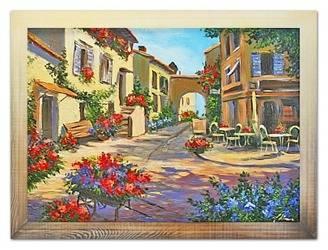 """Obraz """"Architektura"""" ręcznie malowany 63x83cm"""