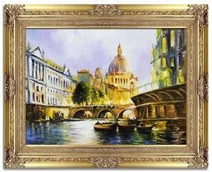 """Obraz """"Architektura"""" ręcznie malowany 78x98cm"""
