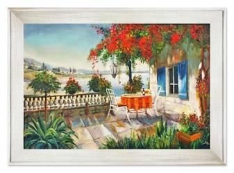 """Obraz """"Architektura"""" ręcznie malowany 82x112cm"""