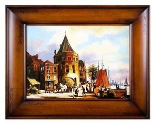 """Obraz """"Architektura"""" ręcznie malowany 87x117cm"""