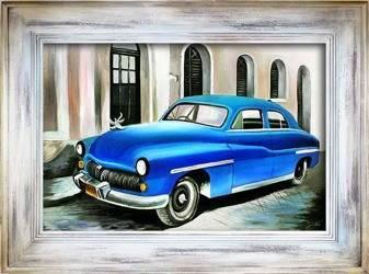 """Obraz """"Automobile"""" ręcznie malowany 86x116cm"""