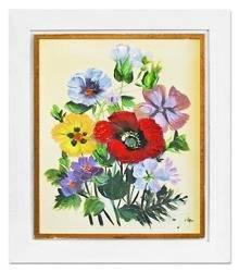 """Obraz """"Bukiety mieszane """" ręcznie malowany 27x32cm"""