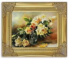 """Obraz """"Bukiety mieszane """" ręcznie malowany 30x35cm"""