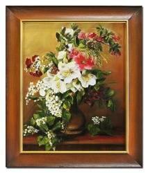 """Obraz """"Bukiety mieszane """" ręcznie malowany 53x63cm"""