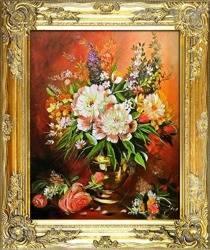 """Obraz """"Bukiety mieszane """" ręcznie malowany 53x64cm"""