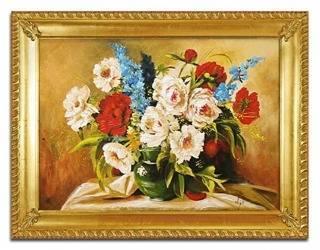 """Obraz """"Bukiety mieszane """" ręcznie malowany 63x83cm"""