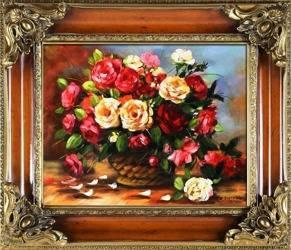 """Obraz """"Bukiety mieszane """" ręcznie malowany 65x75cm"""