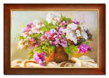 """Obraz """"Bzy"""" ręcznie malowany 76x106cm"""