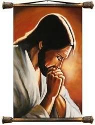 Obraz - Chrystus - olejny, ręcznie malowany 37x62cm