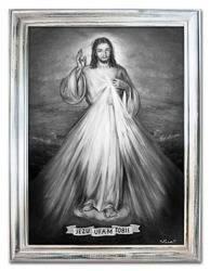 Obraz - Chrystus - olejny, ręcznie malowany 63x84cm