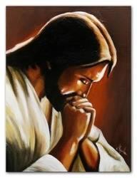 """Obraz """"Chrystus"""" ręcznie malowany 30x40cm"""