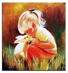 """Obraz """"Dziecięce"""" ręcznie malowany 30x30cm"""