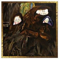 """Obraz """"Gustaw Klimt"""" ręcznie malowany 138x138cm"""