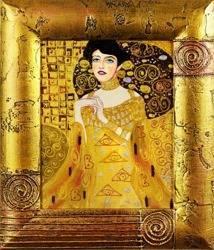 """Obraz """"Gustaw Klimt"""" ręcznie malowany 27x32cm"""