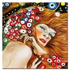 """Obraz """"Gustaw Klimt"""" ręcznie malowany 30x30cm"""