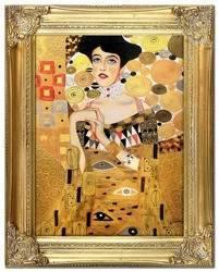 """Obraz """"Gustaw Klimt"""" ręcznie malowany 37x47cm"""