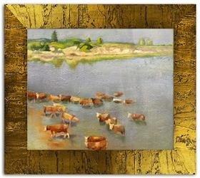 """Obraz """"Inni"""" ręcznie malowany 58x68cm"""